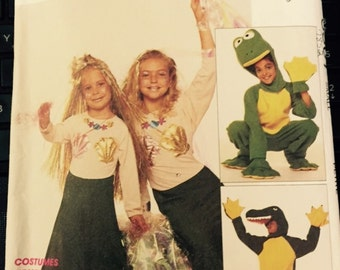 """FROG, Alligator, MERMAID Costume sewing pattern McCalls 5501 (7852)  Adult Small size costume pattern 32 1/2"""" to 34"""" Alligator Mermaid Frog"""