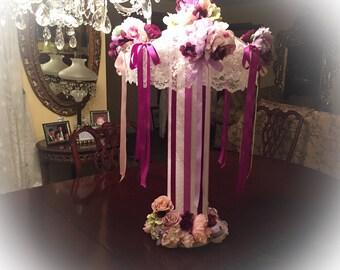 BRIDAL SHOWER CENTERPIECE Custom Colors, Wedding Centerpiece handmade