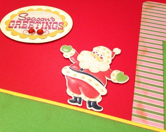 Christmas Santa Scrapbook Kit 12x12 2 Page Layout Premade DIY