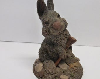 Vintage Cairn Studio Tim Wolfe Rabbit Named Myrtle Holding a Golf Tee  Re-Signed