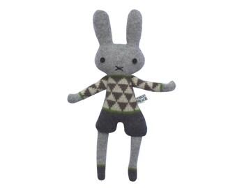 Mini Knitted Lambswool Boy Bunny