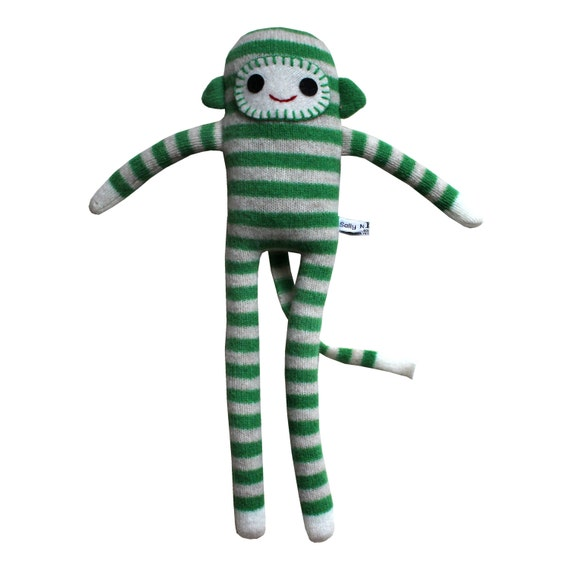 Lambswool Stripy Monkey