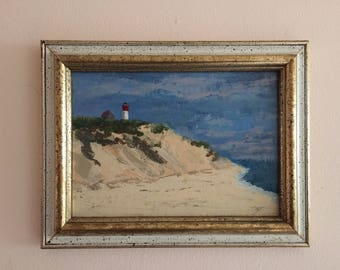 Cape cod lighthouse painting by Rick Senft (CT artist)