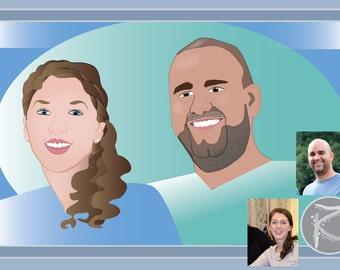 Custom Digital Vector Caricature Portraits