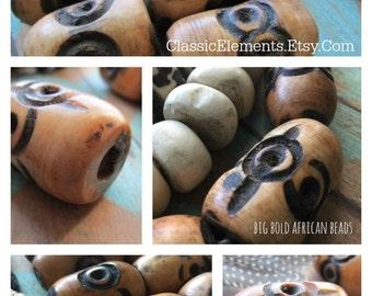 African BIG Bone Bead, African Beads, African Bead, Etched Bead, Bone Bead, Big Bead