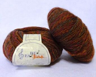 Stash Sale - Baruffa Lang Folk Wool Yarn, Sale Yarn, Wool from Italy, Rust Wool Yarn, Brown Wool Yarn - 2 balls