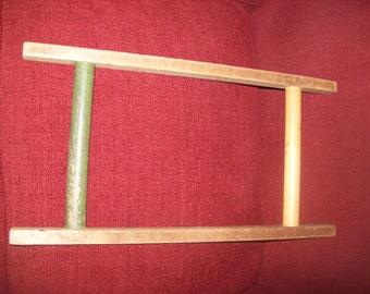 Primitive Wooden Yarn Winder Rope Winder String Winder Clothesline Winder Collectible
