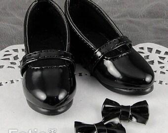 Fatiao - 1/4 BJD Mini Supper dollfie MSD Shoes - Black (Size 5.5cm)