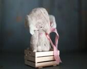 Artist bear. Old style teddy bear. Plush Elephant.