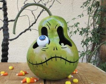 Halloween Gourd Troll Jack O Lantern Primitive Pumpkin Decoration ( with removable eye )