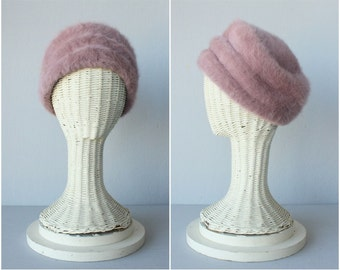 Vintage 1960s Kangol Hat | Wool Hat | 60s Pink Hat | Vintage Kangol Hat | 60s Cloche | 60s Wool Beret