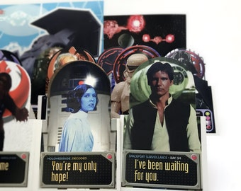Star Wars Birthday Cards, Star Wars Gift Set - 40 Pop Up Cards & Envelopes, Star Wars Birthday Party Favors - Princess Leia, Han Solo, R2D2