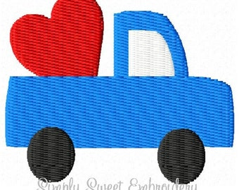 Truck Heart Mini Machine Embroidery Design