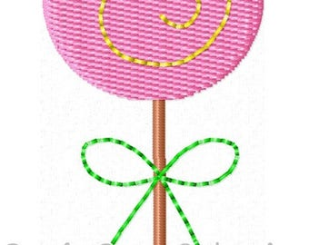 Lollipop Machine Embroidery Design Mini