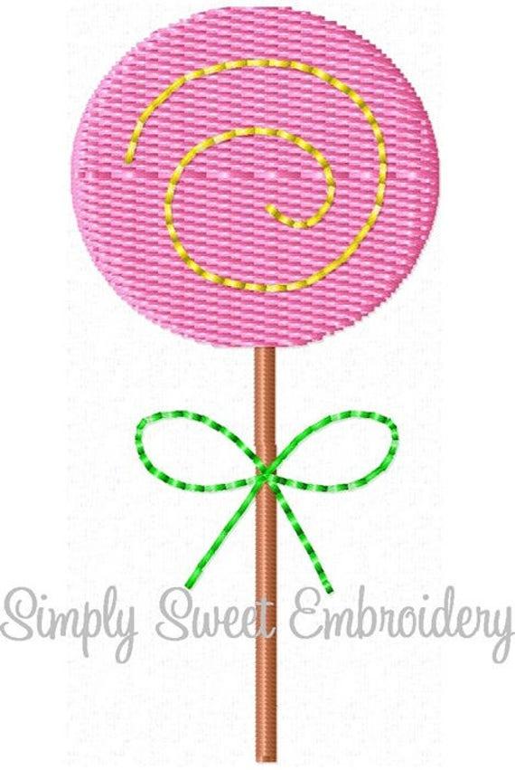 Lollipop Machine Embroidery Design Mini