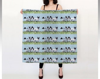 Toy Fox Terrier Silk Scarf