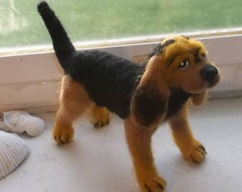 One of a Kind Needle Felted Bloodhound