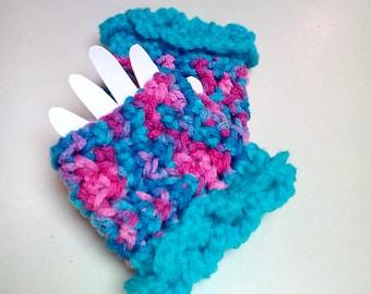 Fun Crocheted Fingerless Gloves for Baby Girl