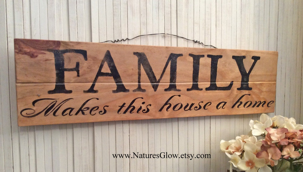 FAMILY Sign Family Sign Home Decor Family Wall Decor Wood
