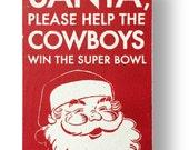 Dallas Cowboys christmas sign - 6 x10.5