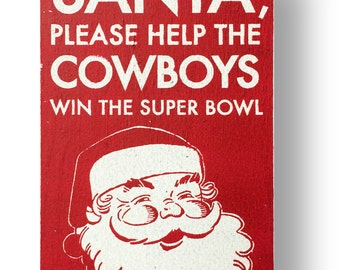 Dallas Cowboys christmas sign - 6 x10.5