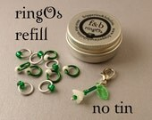 ringOs REFILL - Limited Edition Snowdrops - Snag-Free Ring Stitch Markers for Knitting