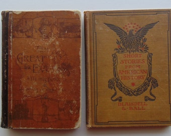 2 Antique History Books