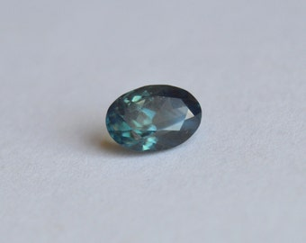 Madagascan Scapphire, Unheated Sapphire, Teal Sapphire, Sapphire Oval, Bi-Color Sapphire, Blue Sapphire, 9x6mm sapphire