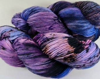Midnight Shadows Superwash Corriedale/Nylon Yarn, fingering weight, sock yarn