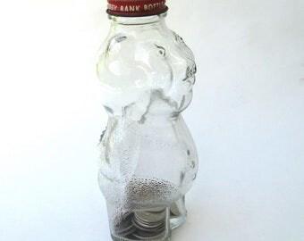vintage glass piggy bank   ...   syrup bottle