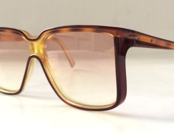 80s Vintage French Christian Latour Oversized Square Frame Sunglasses