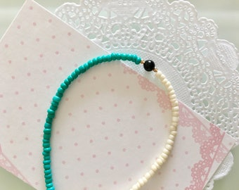 Turquoise beaded friendship bracelet for everyday. Simple everyday jewelry