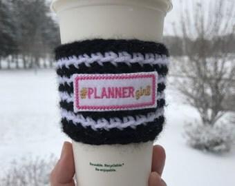 crochet coffee cozy, boss lady crochet cozy, mom gift, coffee cozy, coffee sleeve, cup cozy, teacher gift, boss gift