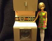Vintage Deluxe Reading Dishwasher.   Barbie size dream Kitchen 1960.  Mid Century Modern.