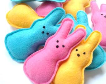 Felt Bunny-Easter Bunny Ornaments- Peeps, felt peeps, Easter Bunny Decorations-Felt Ornaments-Felt Bunny-felt Easter toys, felt toys