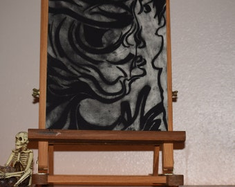 Abstract Charcoal - Wall Art - Drawing