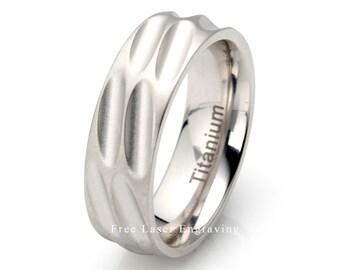 Titanium Wedding Band, Scooped diagonale, Brushed Wedding Band, Mens Titanium Wedding Ring, Wedding Band, Mens Ring, Brushed Titanium Ring