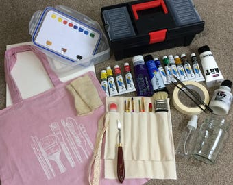 Complete acrylic painting starter kit