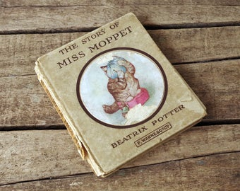 Salvaged Beatrix Potter Book The Story of MIss Moppet
