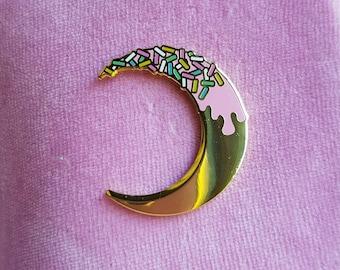 Gold Moon Pin - Hard Enamel Pin
