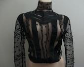 Antique Vintage Victorian Net Lace Blouse