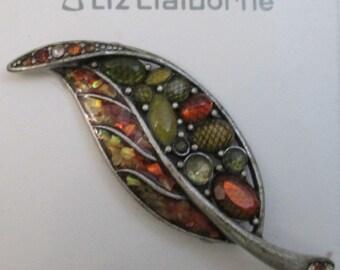Vintage Liz Claiborne Rhinestone Brooch Vintage Pin