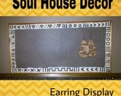 Earring Display Mud Cloth Style.