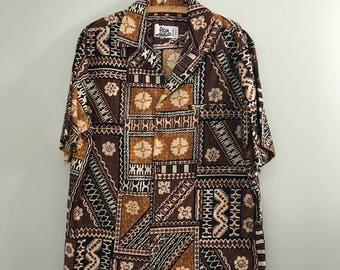 Vintage Hilo Hattie's Hawaiian Aloha Luau Shirt XL NWT