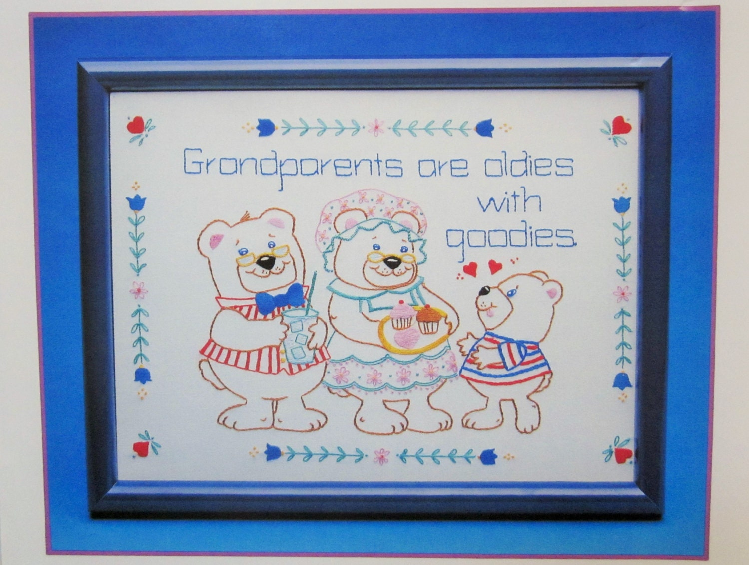 Grandparents stichery embroidery kit currents from