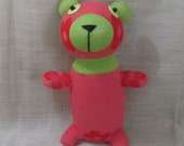 Clearance Handmade Red Sock Bear Stuffed Animal Doll Baby Toys