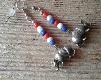 Armadillo Earrings,Texas