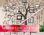 Mothers Day Sale - Staircase family Tree Wall Decal  Tree Wall Decal Sticker