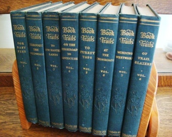 1928 Book Trails Volumes 1-8 Shepard and Lawrence Publishers