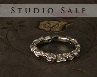 STUDIO SALE Ready-to-Wear Rosy Diamond Eternity Band (size 5.75)